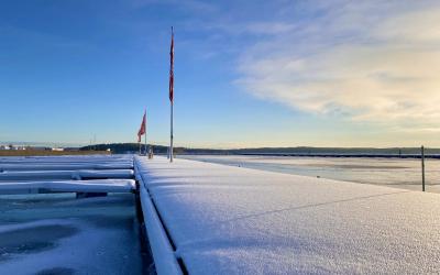 Vinter på marinan