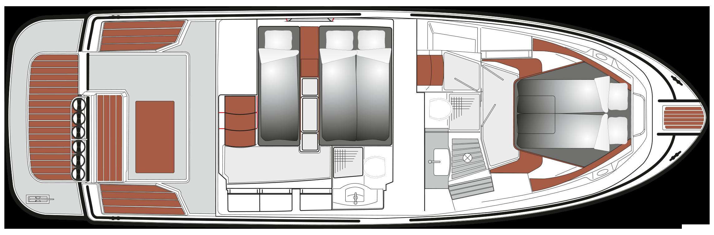 SARGO 36 B lower deck 2021