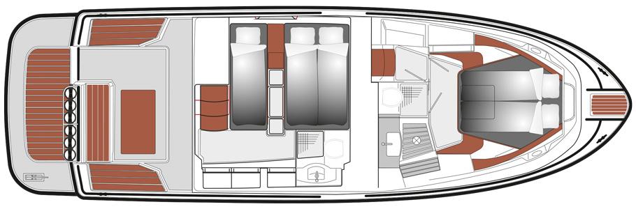 SARGO 36 B lower deck