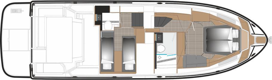 SARGO 45 2 cabin version