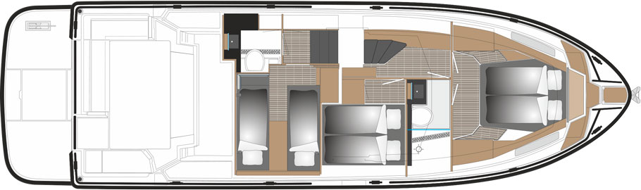 SARGO 45 3 cabin version