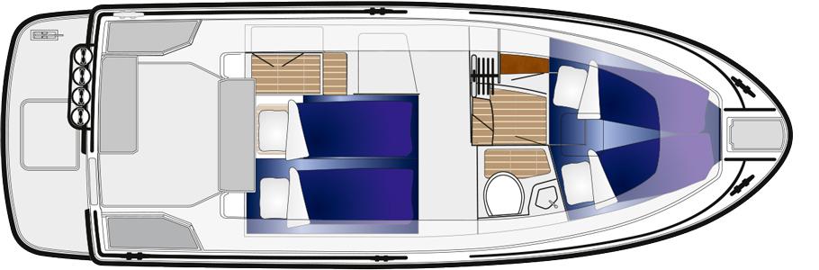 sargo 28 lower deck 2021